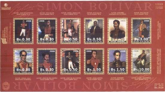 Lot#277: SIMON BOLIVAR IMPERFORATED SC. 1689 (Prox. Oferta Mínima: 5.25)