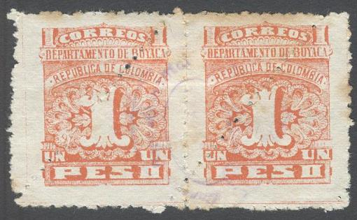 Lot#53: BOYACA DEPARTMENT 1 PESO PAIR  (Prox. Oferta Mínima: 3.25)