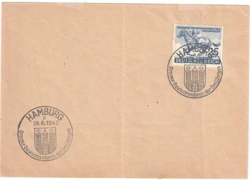 Lot#104: B204,  ON COVER WITH SPECIAL CACHET 26 - 6 - 1942 CAT MICHEL: 814   HORSE  (Prox. Oferta Mínima: 2.25)