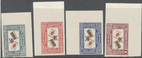 Lot#274: 388, IMPERF STAMPS FROM SHEET, RED CROSS  (Prox. Oferta Mínima: 6.5)