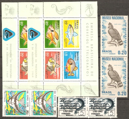 1054, 1084, 1129, 1130 X 2 SETS BIRD, FISHES